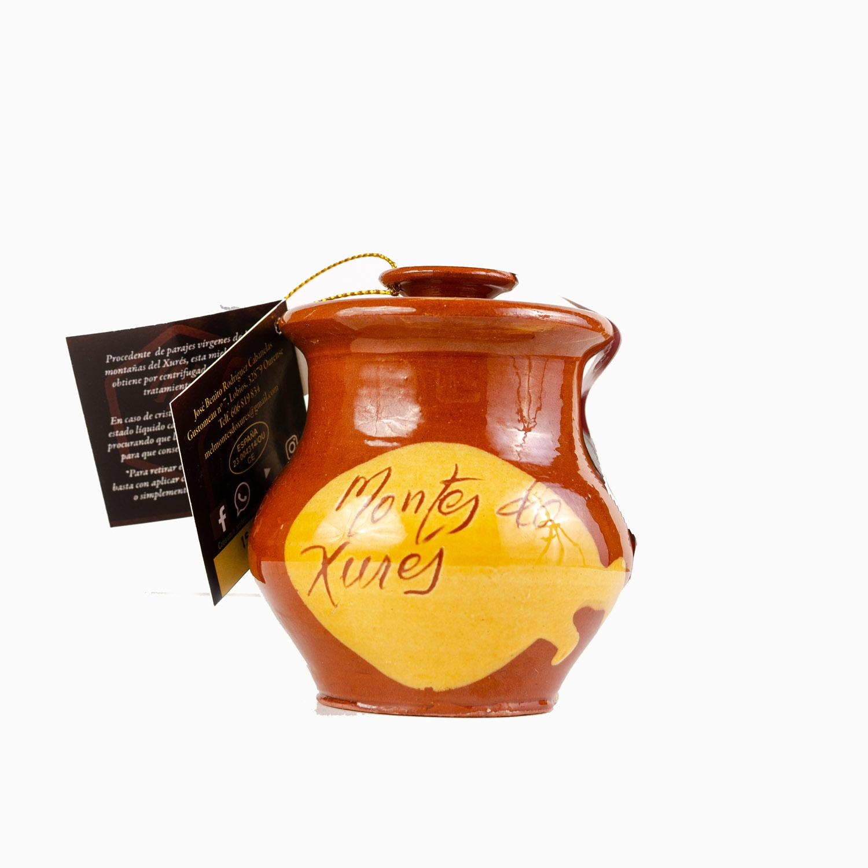 250 gr. miel ecológica de Galicia - Montes do Xurés en jarro artesano